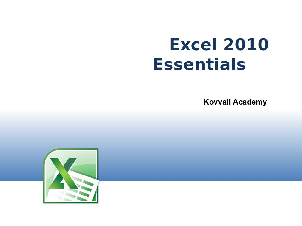 Excel 2010 Essentials