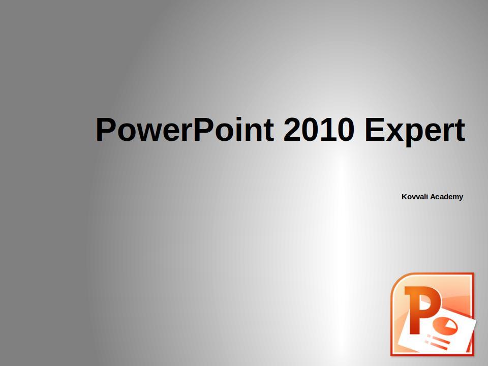 PowerPoint 2010 Expert
