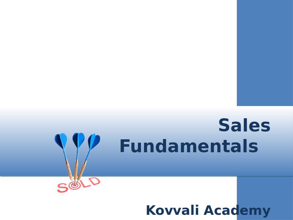 Sales Fundamentals