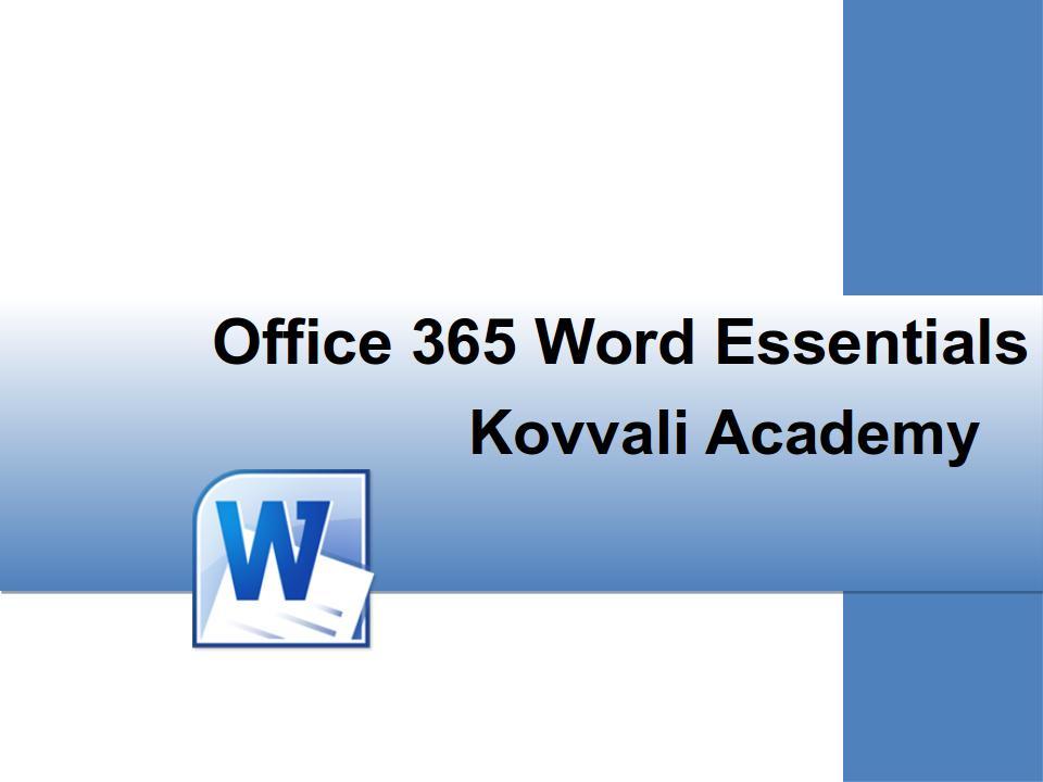 Word 365 Essentials